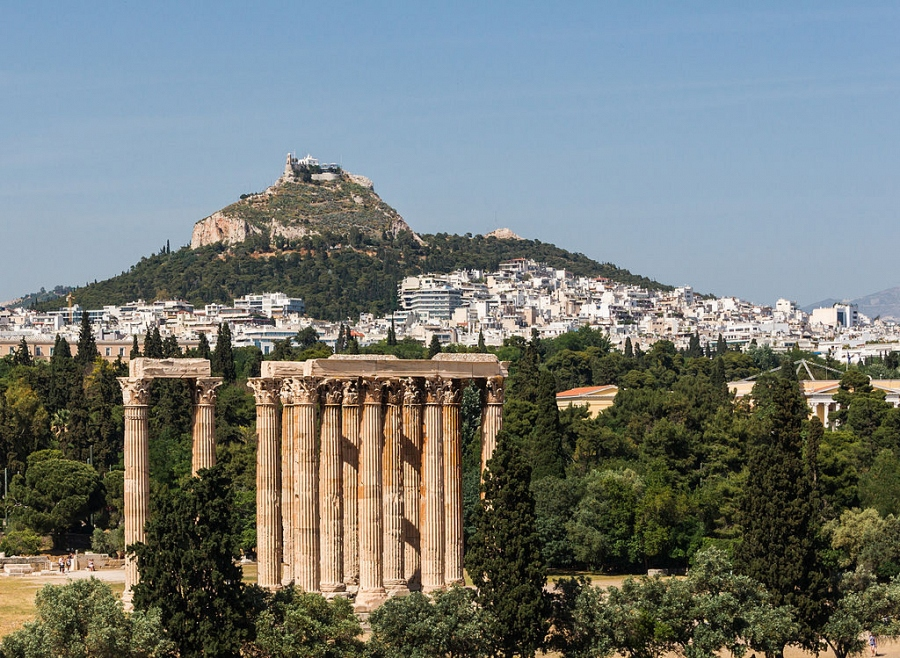From Temple of Olympian Zeus to Lycabetus Athens Greece