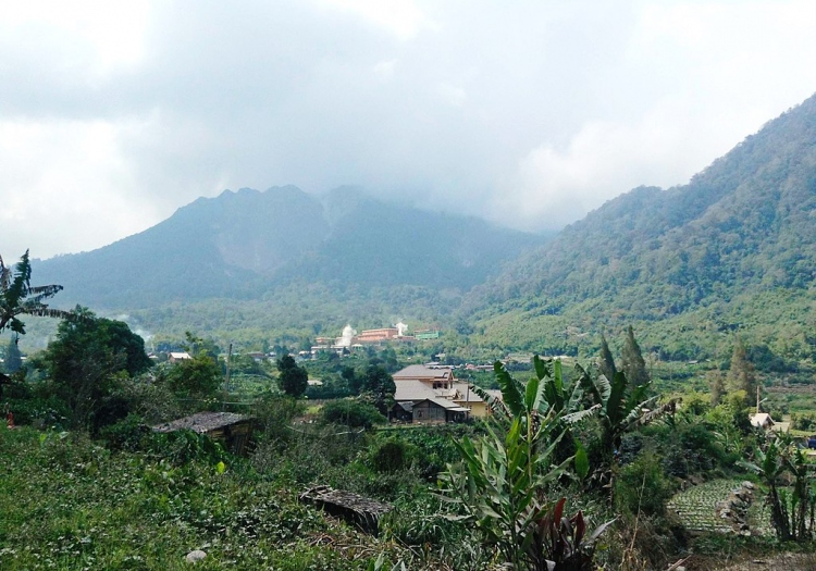 Mount Sibayak from Semangat Gunung 01