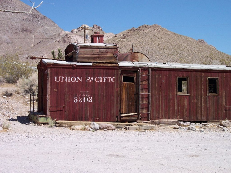 Old caboose at Rhyolite ghost town 100 0551