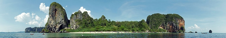 Phra Nang beach panorama edit