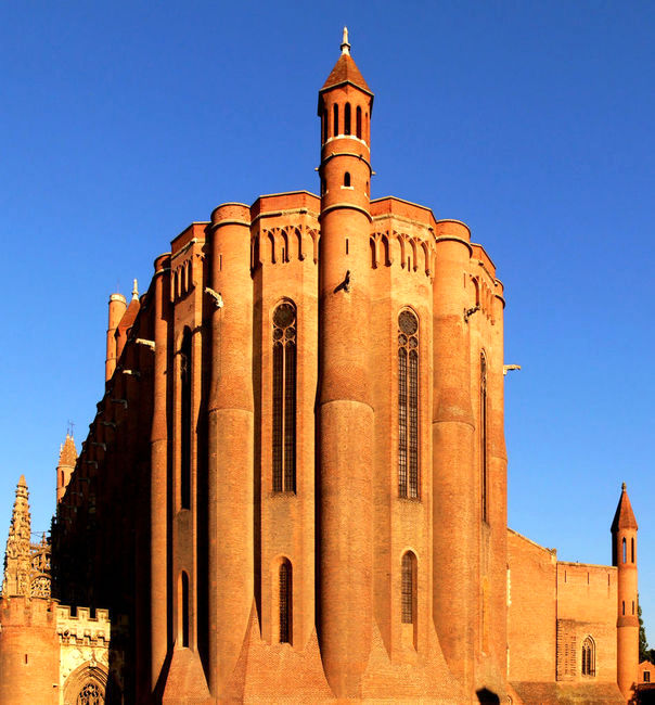 The Cathedral Of Saint Cecile, Albi, Tarn, France - Builded from 1282 to 1480 - The world's largest construction in brick.  Classified in 2010 by UNESCO, as world heritage. (image)