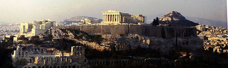 Akropolis in the evening (image)