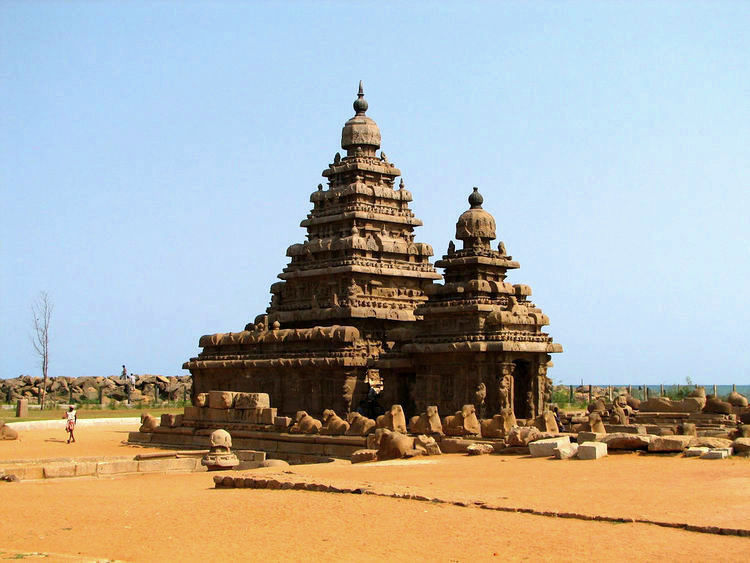 India - Mamallapuram - 004 - Shore Temple (image)