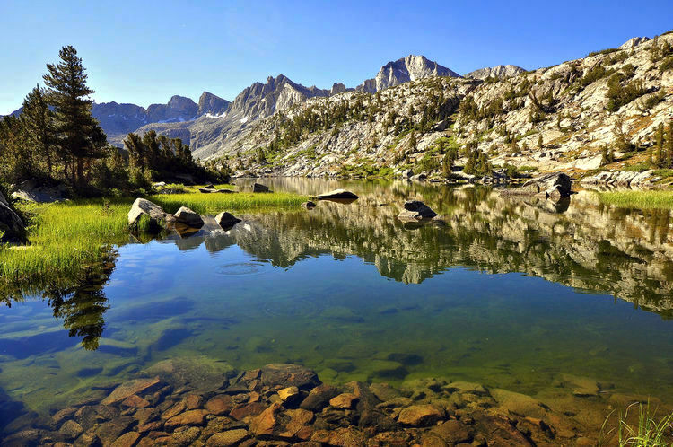 Unnamed Lake, Dusy Basin, Kings Canyon National Park (image)