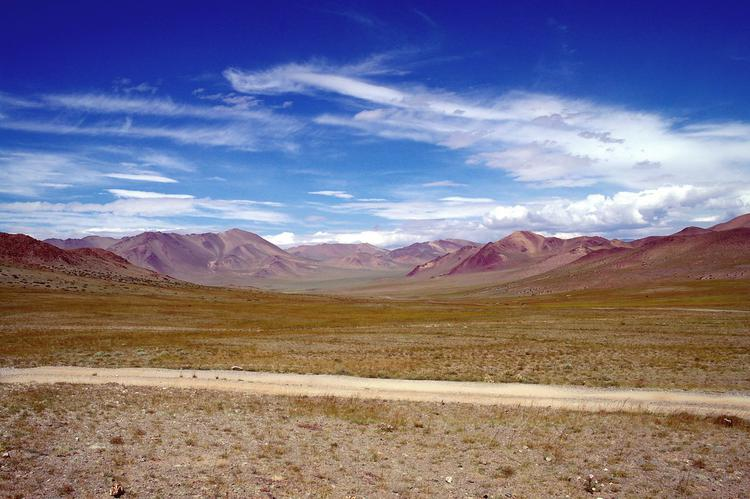 Driving from Olgii to Tavan Bogd (image)