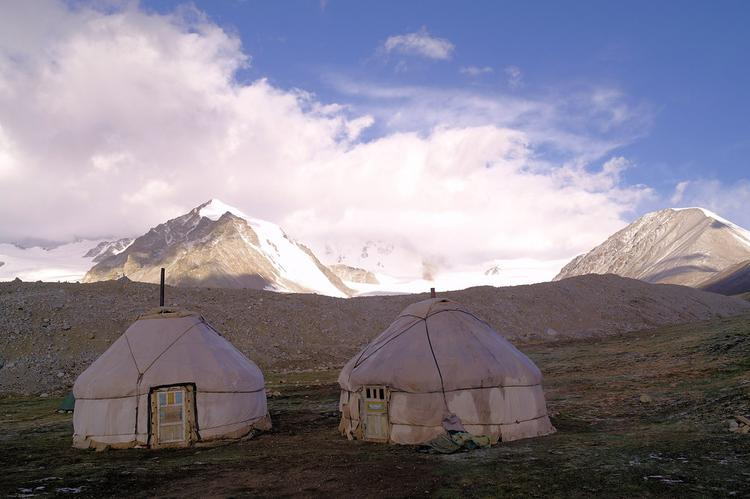 Base camp by Potaniin glacier, Tavan Bogd national park (image)