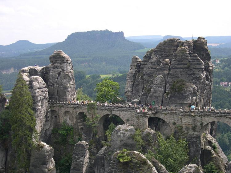 Bastei Bridge within the Elbe Sandstone Mountains (image)